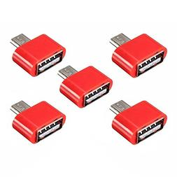 Toogoo 5pcs NEW Micro-USB Male to USB 2.0 Female Mini Adapte