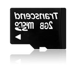 Transcend 2GB MicroSD Micro Secure Digital Card with SD Adap