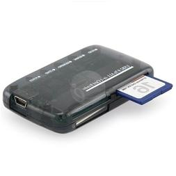 Mini All-in-1 Memory Card Reader Black Compatible with: Secu