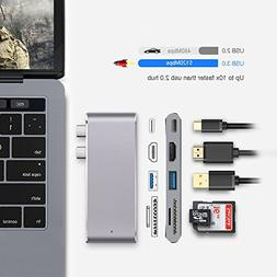 Multi-function Typce-C to Hub3.0 for MacBook, Thunderbolt 3