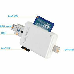 3 in 1 TF SD memory Card Reader for iPhone/ipad/ MAC/ PC/ An