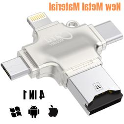 New 4 in 1 Card Reader Adapter Multi-function USB for iPhone