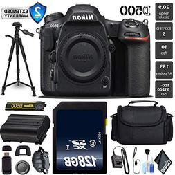 "Nikon D500 DSLR DX-Format DSLR Camera  20.9MP + 72"" Professi"