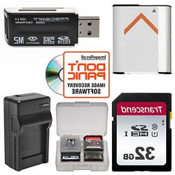 NP-BN1 Battery & Charger + 32GB SD Card Essential Bundle for