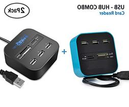 LLP 2 Pack All in One Premium Combo Multi-in-1 Card Reader 3