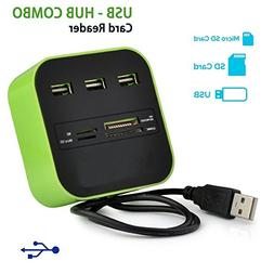 All In One Premium Combo 4 Multiple Card Reader 3 Ports USB