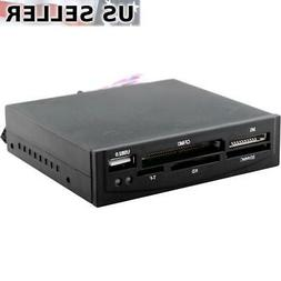 "3x 3.5"" All-in-One Internal Flash Memory Card Reader + USB 2"
