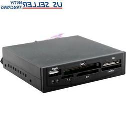 "3x 3.5/"" All-in-One Internal Flash Memory Card Reader USB 2.0 Hub"