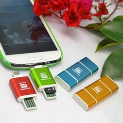 OTG 2in1 Micro USB Adapter SD Card Reader For Tablet Samsung