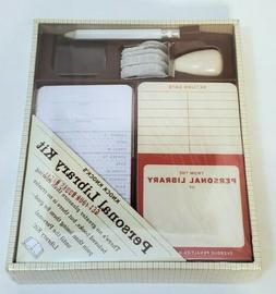 Personal Library Kit by Knock Knock Checkout Cards Date Stam