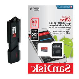 SanDisk Ultra A1 64GB MicroSD XC Class 10 UHS-1 Mobile Memor