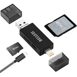 BEITESI SD Card Reader, USB 3.0 Card Reader for iPhone/iPad/