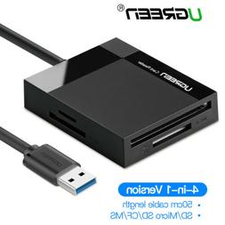Ugreen SD Card Reader USB 3.0 Card Hub Adapter 5Gbps for SD,