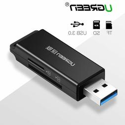 Ugreen SD Card Reader USB 3.0 SD TF Memory Card Adapter with
