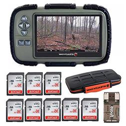 """Stealth Cam SD Card Reader and Viewer with 4.3"""" LCD + 8 16GB"""