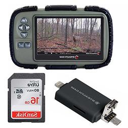 """Stealth Cam SD Card Reader and Viewer with 4.3"""" LCD and iOS/"""