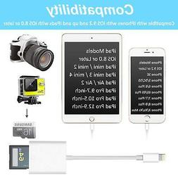 SD Card Reader, Lightning Adapter for iPhone , Trail Game Ca