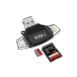 LADER SD / Micro SD Card Reader for iPhone iPad / Android Ph