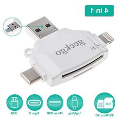 geekgo SD & Micro SD Card Reader for Apple iPhone iPad/Andro