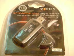 Zeikos Secure Digital Card Reader/Writer -Includes USB Cable