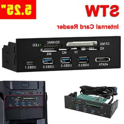 "STW 5.25"" Internal Media Memory Card Reader USB 3.0 Dashboar"