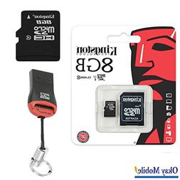 Original Kingston microSD Card 8GB Tablet for Samsung Galaxy