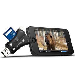 trail camera card reader viewer for iphone