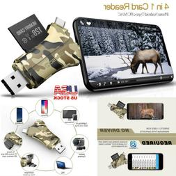 Trail Camera Viewer SD Card Reader - 4 in 1 SD and Micro SD