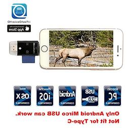 Hunting Trail Camera SD Card Reader- TUOP 3 in 1 Micro SD /