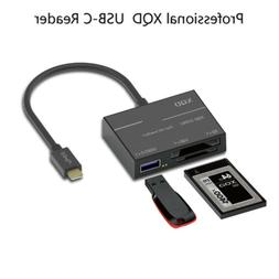Type-C SD XQD Card Reader USB 3.0 Adapter USB-C For Sony G S