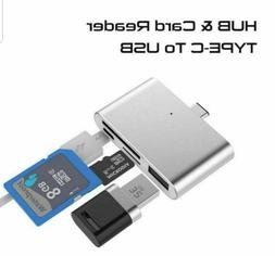 Type-C to USB 3.0 TF/SD Card Reader 3 in 1 HUB Adapter For M