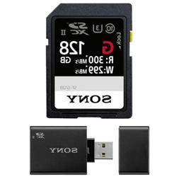 Sony 128GB UHS-II SD Card,  W/Sony SD UHS-II USB Reader/Writ