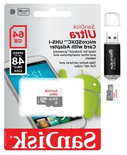 SanDisk Ultra 64GB MicroSD Micro SD Class 10 For GoPro Hero