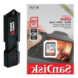 SanDisk Ultra 128GB Class 10 SDXC UHS-1 Memory Card up to 80