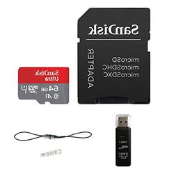 Sandisk Ultra 64GB Micro SDXC UHS-I Card Plus Adapter  with
