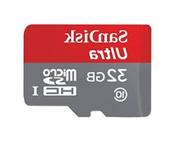 SanDisk Ultra 32 GB MicroSDHC Class 10 UHS-1 Memory Card wit