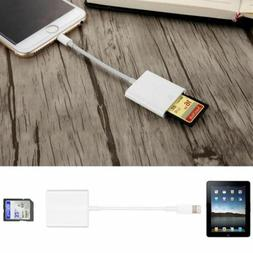 US Lightning to SD Card Camera Reader Adapter for iPhone 7 6