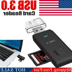 US USB 3.0 HighSpeed Memory Card Reader Adapter for Micro SD