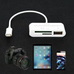 US for Apple iphone X 8 7 6 USB Card Reader Micro-SD Camera