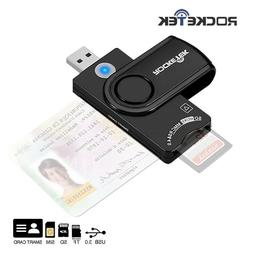 Rocketek USB 2.0 3.0 Card Reader Military CAC Common Access-