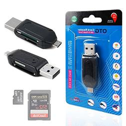 USB 2.0 + Micro USB SD / MicroSD OTG Card Reader For Google