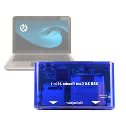 USB 2.0 Card Reader Multiplier For Laptops Compatible With H