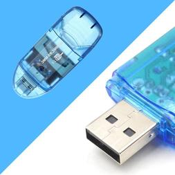 USB 2.0 Memory Card Reader Writer Adapter for SD MMC SDHC TF