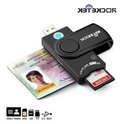 Rocketek USB 2.0 Smart Card Reader DOD Military CAC Common A