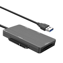 ELEGIANT USB 3.0 Type-C 2 Port Hub Card Reader SATA III Comb