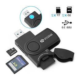 USB 3.0 Card Reader, Eletrand Super-Speed 5GB/s SD/Micro SD