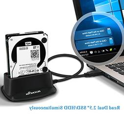 Rocketek USB 3.0 to SATA I/II/III Dual Bay External Hard Dri