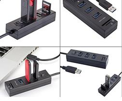 3 USB Ports SD TF Card Reader and Data Transfer. SuperSpeed