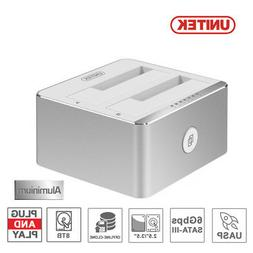 "UNITEK USB 3.0 to SATA HDD Dual External 3.5"" Clone Hard Dri"