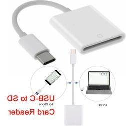 USB 3.1 Type C USB-C to SD SDXC Card Reader Adapter Cable fo